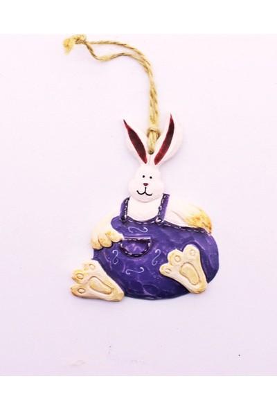 Deco Elit Yılbaşı Çam Ağacı Süsü Mor Tavşan Dekoru