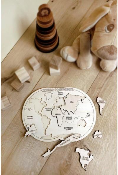 Macsylen Okul Öncesi Ahşap Dünya Haritası