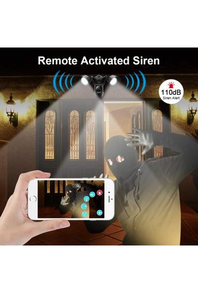 OPAX-90120 Projektörlü Hareket Sensörlü Kamera ve Alarm Sistemi