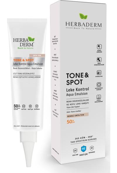 Herbaderm Tone & Spot Tam Spektrum Koruma Koyu Leke Karşıtı Ve Renk Düzenleyici Renkli Orta Ton