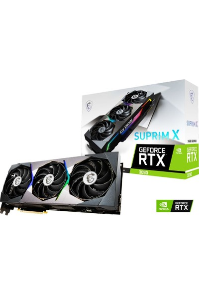 MSI Nvidia GeForce RTX 3090 Surprim X 24GB OC 384Bit GDDR6X PCI-E 4.0 Ekran Kartı (GEFORCE RTX 3090 SUPRIM X 24G)