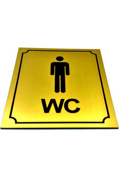 Se-Dizayn Wc Tabelası Bay Bayan Takım 2 Adet 10 cm x 12 cm Yönlendirme