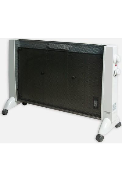 Voltomat 2000 W Termostatlı Panel Radyatör - Siyah