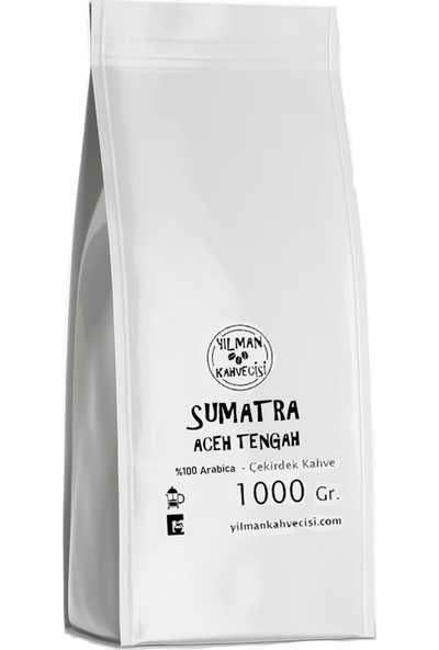 Yılman Kahvecisi Sumatra Aceh Tengah Filtre Kahve Arabica Taze Kavrulmuş 1 kg