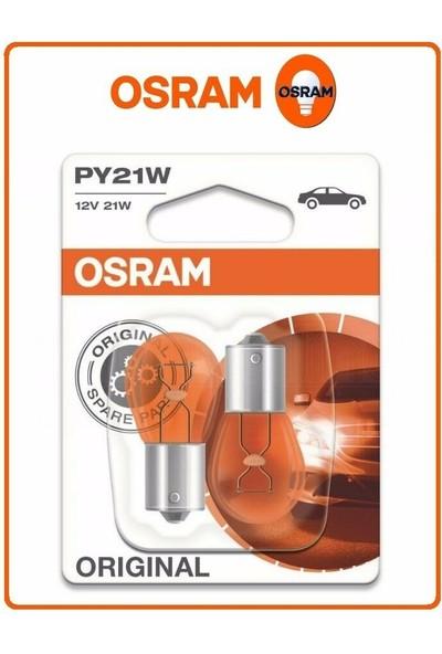 Osram 93 Sinyal Sarı Turuncu Amber 2'li Takım 7507 PY21W 12V 21W