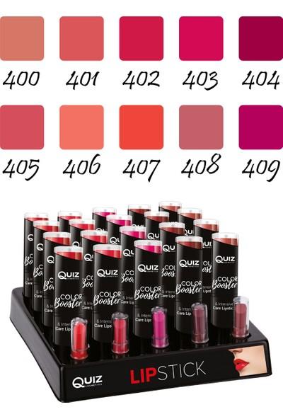 Quiz Dudak Güçlendirici Yoğun Pigmentli Ruj - Color Booster & Intensive Care Lipstick