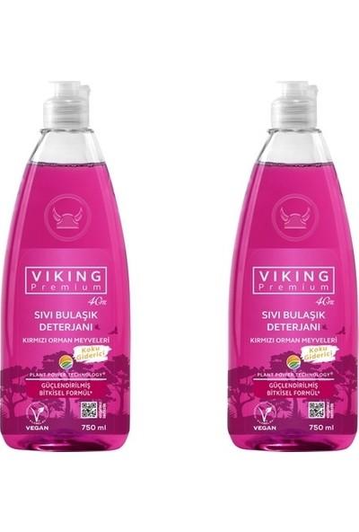 Viking Premium Sıvı Bulaşık Deterjanı Kırmızı Orman Meyveleri - 2'li