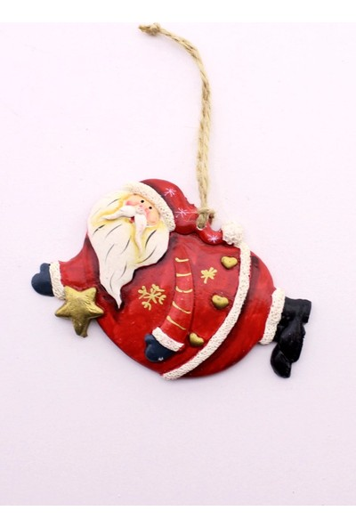 Deco Elit 1 Adet Yılbaşı Çam Ağacı Süsü Yıldızlı Noel Baba Dekoru