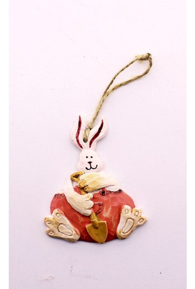 Deco Elit 1 Adet Yılbaşı Çam Ağacı Süsü Pembe Tavşan Dekoru