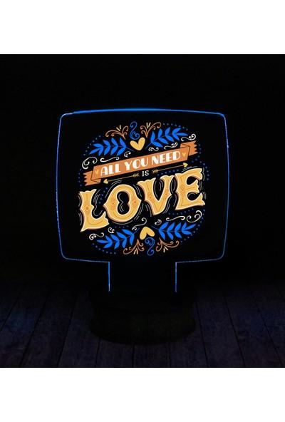 eJOYA Modern Desenli 3 Boyutlu 3D Led Gece Lambası 90265