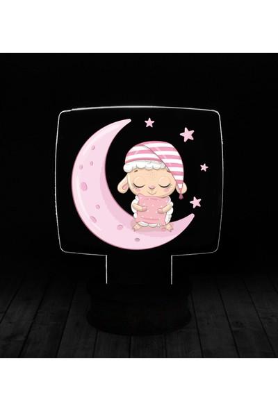 eJOYA Modern Desenli 3 Boyutlu 3D Led Gece Lambası 90238