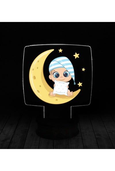 eJOYA Modern Desenli 3 Boyutlu 3D Led Gece Lambası 90237
