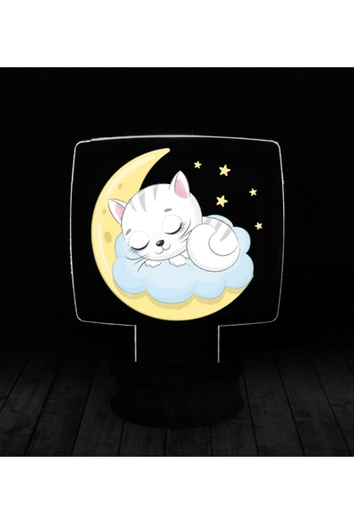 eJOYA Modern Desenli 3 Boyutlu 3D Led Gece Lambası 90236