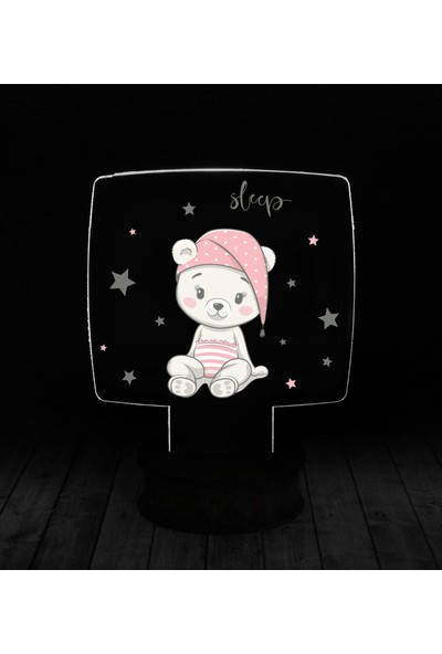 eJOYA Modern Desenli 3 Boyutlu 3D Led Gece Lambası 90228