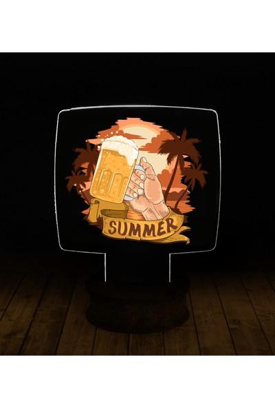 eJOYA Modern Desenli 3 Boyutlu 3D Led Gece Lambası 90222