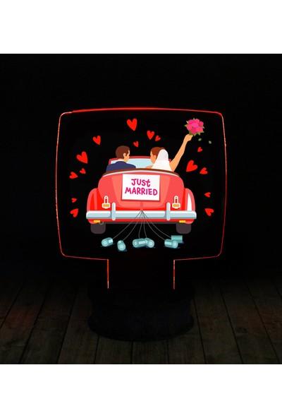 eJOYA Modern Desenli 3 Boyutlu 3D Led Gece Lambası 90215