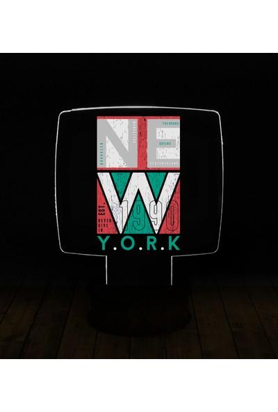 eJOYA Modern Desenli 3 Boyutlu 3D Led Gece Lambası 90187