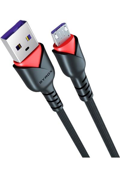 Syrox C91 Micro USB Girişli 2.0A Hızlı Şarj ve Data Kablosu
