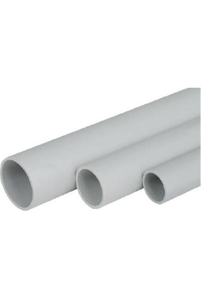 Zeybek PVC Alev Yaymayan Düz Boru 16/6 Duvar Tipi - (1 Metre)