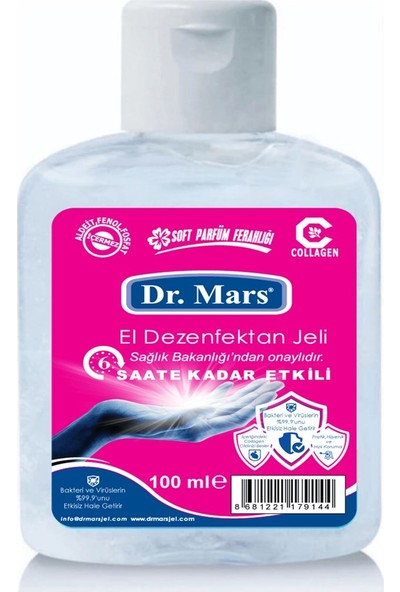 Dr.mars Antibakteriyel El Dezenfektan Jeli 100 ml 5'li Paket