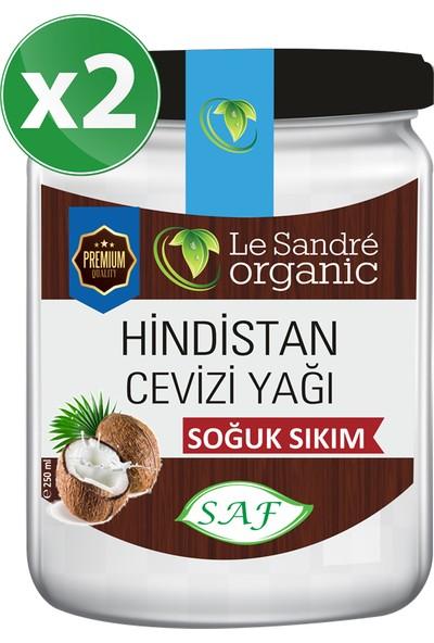 Le Sandre Organics Hindistan Cevizi Yağı 250 ml 2'li