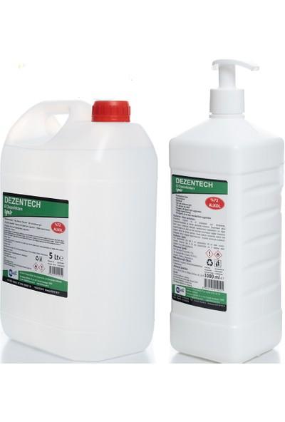 Dezentech Antibakteriyel El ve Cilt Dezenfektanı 5 lt + Pompalı Ambalaj 1 lt