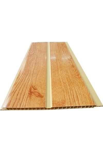 Koç Lambri-Pvc-Plastik Lambri-Altın Meşe Tavan ve Duvar-10 Adet-20 cm x 3 m 6 Metrekare