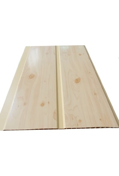 Koç Lambiri-Pvc Lambri Budaklı Akça Ağaç - Tavan ve Duvar Kaplama-10 Adet 20 cm x 2 Metre 4 Metrekare
