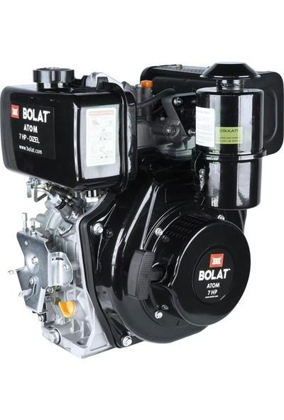 Bolat 7hp Dizel Motor (Çapa Tipi Frezeli Ipli)