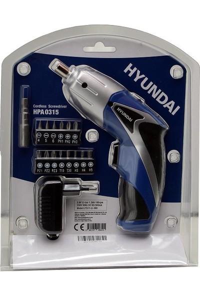 Hyundai HPA0315 Li-Ion Akülü Vidalama 3.6V 1.3AH