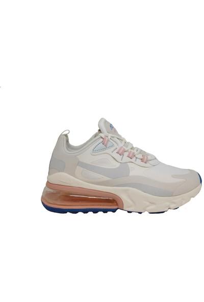 Nike Air Max 270 React Beyaz-Pembe Spor Ayakkabı