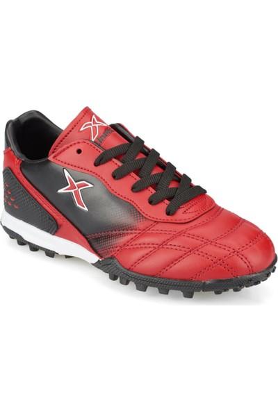 Kinetix Forlan Turf Kırmızı Siyah Erkek Çocuk Halı Saha Ayakkabısı