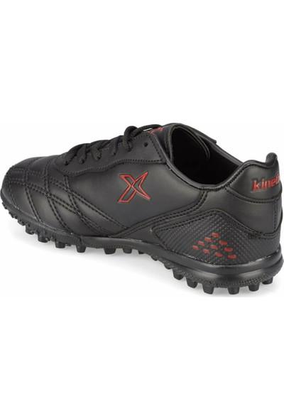 Kinetix Forlan Turf Siyah Kırmızı Erkek Çocuk Halı Saha Ayakkabısı