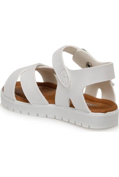 Polaris 91.508159.B Beyaz Kız Çocuk Sandalet