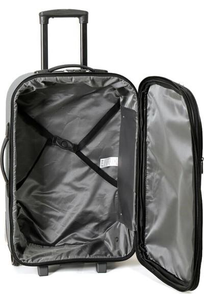 Travel Soft U Kmr 6001-B Füme Unisex Büyük Valiz