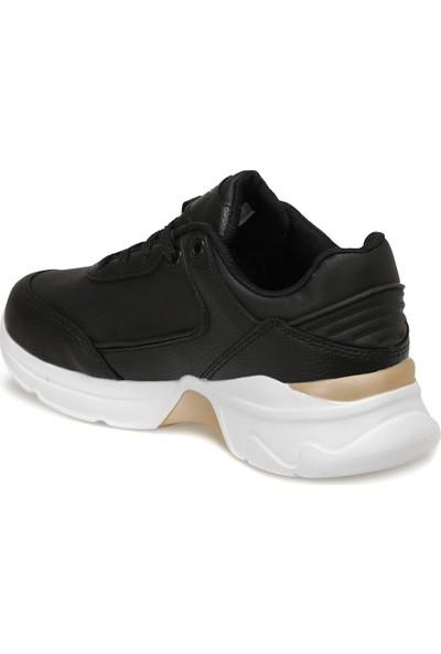 Kinetix Siyah Kadın Kalın Tabanlı Spor Yürüyüş Ayakkabısı Pull Pu
