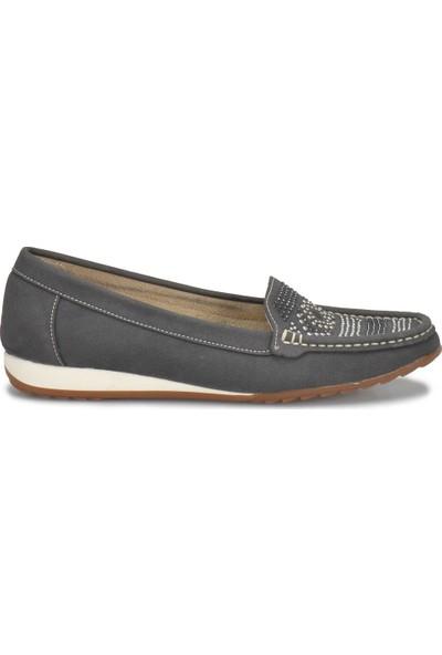 Travel Soft Trv1015 Antrasit Kadın Loafer Ayakkabı