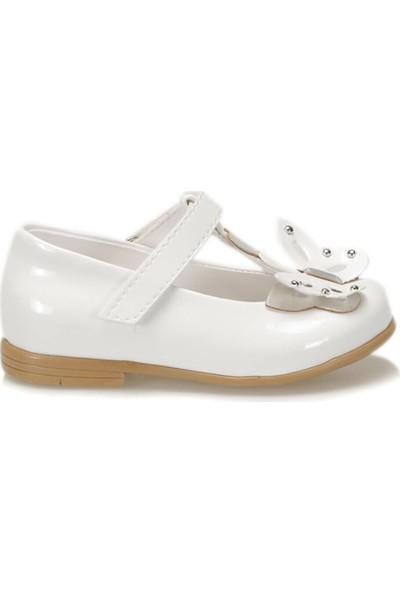 Pink Step 91.Butterfly-2.B Beyaz Kız Çocuk Babet