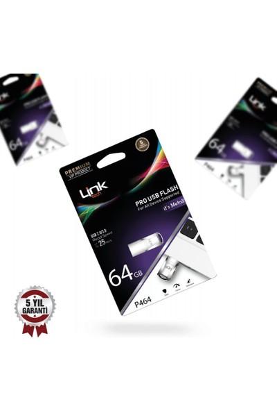 Linktech Pro Premium 64GB Metal 25MB/S USB Flash Bellek