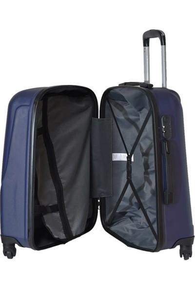 Travel Soft U Kmr 6101-B Lacivert Unisex Büyük Valiz