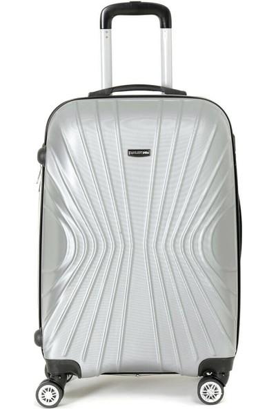 Travel Soft U Kmr 6121-B Gümüş Unisex Büyük Valiz