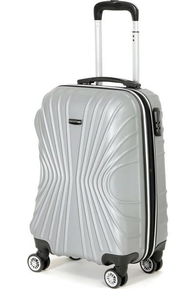 Travel Soft U Kmr 6121-K Gümüş Unisex Küçük Valiz