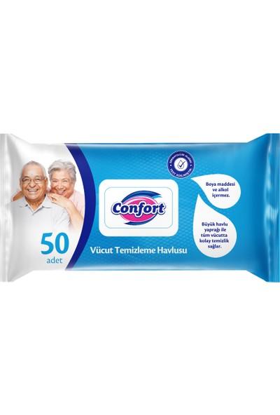 Confort Vücut Temizlik Havlusu 50 Adet