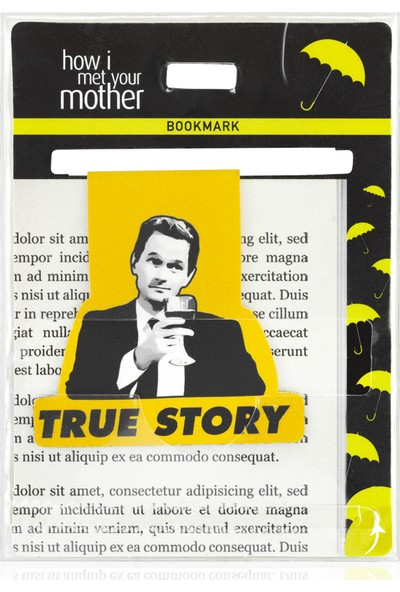 Mabbels Bookmark True Story-Barney Kitap Ayracı