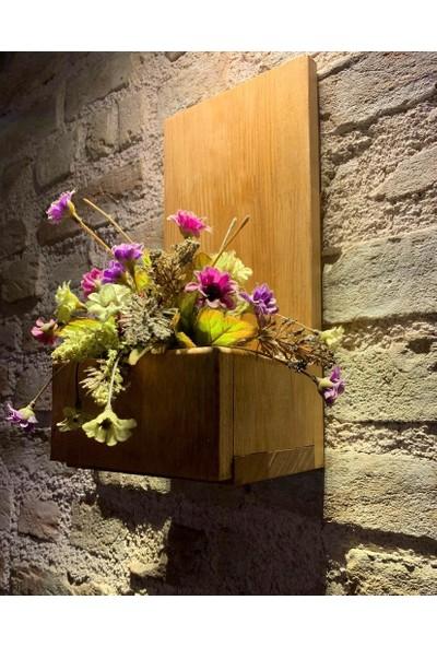 Msagwoods No:15 Kapı Önü Ahşap Kapı Numaralığı-Çiçeklik-Kapı Isimliği