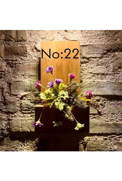 Msagwoods No:22 Kapı Önü Ahşap Kapı Numaralığı-Çiçeklik-Kapı Isimliği