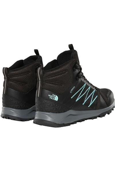 The North Face Litewave Fastpack II Mid GTX Kadın Ayakkabı Siyah/Mavi