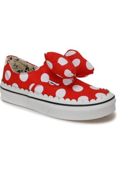 Vans Uy Authentıc Gore Kırmızı Kız Çocuk Slip On Ayakkabı