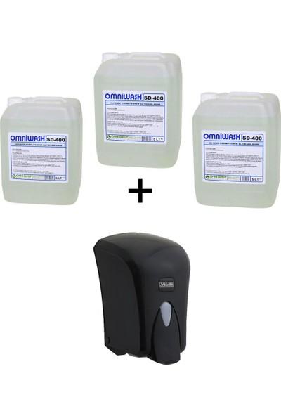Omniwash SD-400 5 Lt Köpük Sabun x 3 Adet + Vialli F6B Köpük Dispenseri