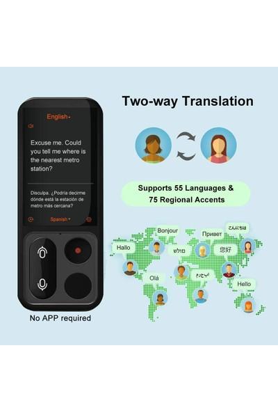 """Joner Sesli Dil Tercüman Cihazı - Beyaz """"55 Dil Destekler"""